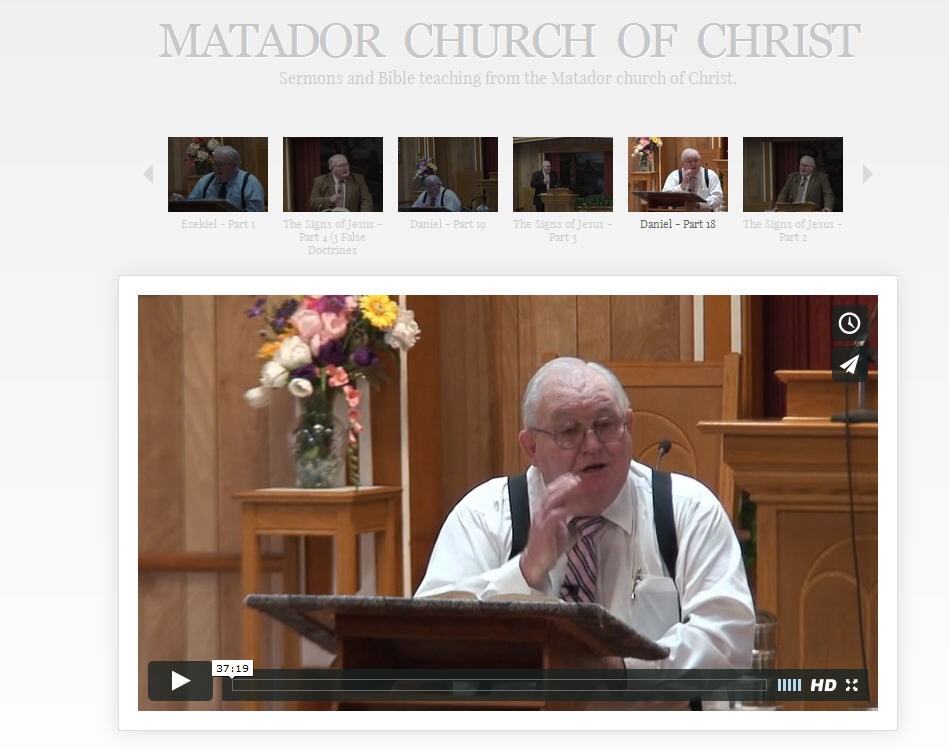 screen shot of sermon video